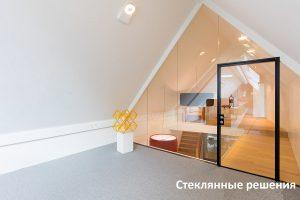 стеклянные перегородки в квартире, офисе и душевой