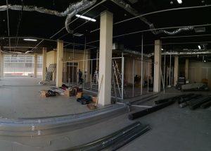 Демонтаж стеклянных офисных перегородок в городе Минск